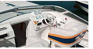 Cockpit Driving Area of A Boat