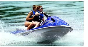 Jet Ski With Two Young Female Riders